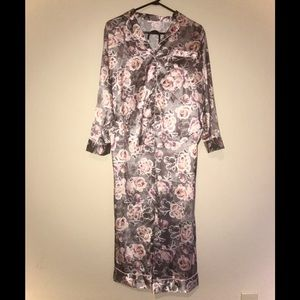 Victoria's Secret silky rose print pajama set